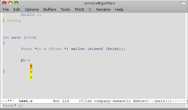 Emacs 与C/C++ 代码自动补全- Emerging World